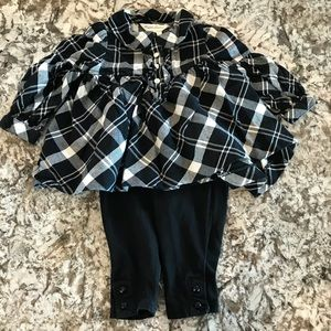 Black and White Plaid Tunic and Leggings
